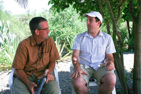 Dave Miller and Clayton Szczech at Wahaka Mezcal