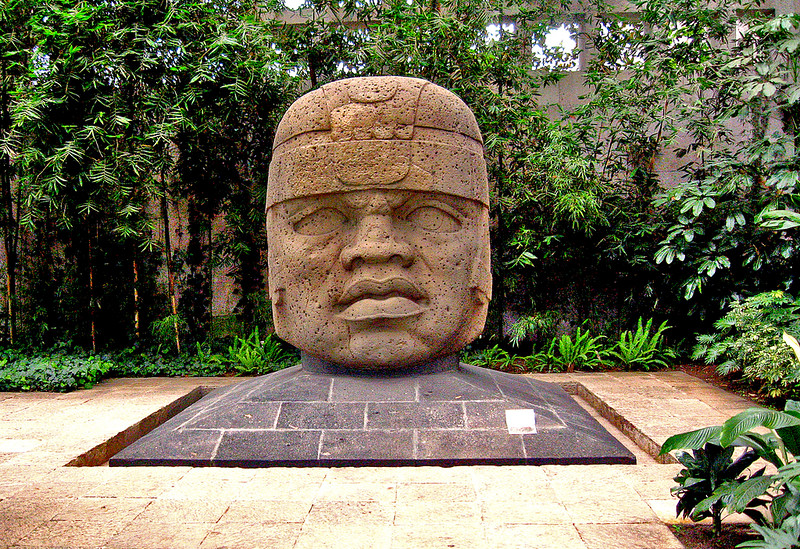 Olmec Head, Museo de Jalapa, Xalapa, Dave Millers Mexico