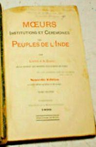 Page du livre de l'Abbé Dubois