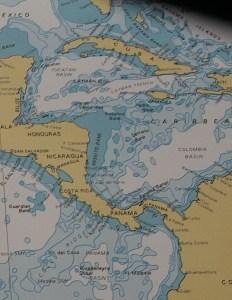 1. British Admiralty chart Key West to Panama.
