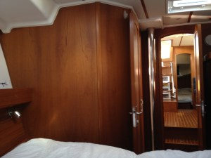 33. Joyful's fo'c's'le starboard aft view.