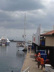4. Joyful refueled at the Isla Flamenco fuel dock