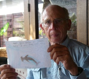 51. While in Bora Bora, Jeff opened a super handmade card from Johnny, a student at the Round Hill Elementary School.  Johnny asked if we had seen a shark.  Not yet, Johnny, but we know they are out there watching Joyful!  Thank you for your awesome card!