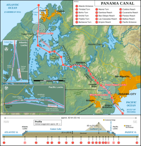 6. Panama Canal Map.