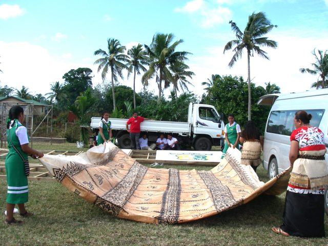 109. This must be the world's largest tapa cloth!!!!