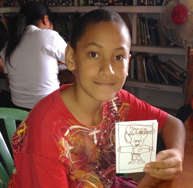 145. This awesome young Tongan boy made a super card showing obedience to the Lord