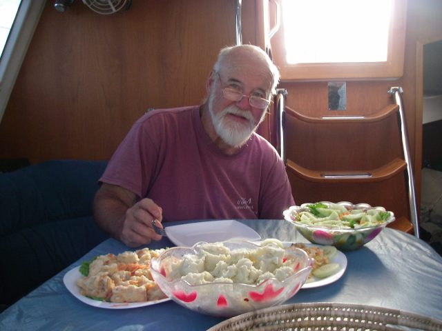 168. Bon Voyage feast - Bill also enjoyed the traditional Tongan goodbye feast Soakai's family gave us
