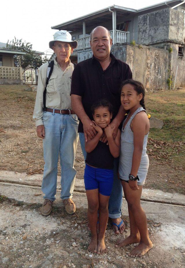 38. Jeff with new Tongan friends, Peno, Angelina, and 'Ala