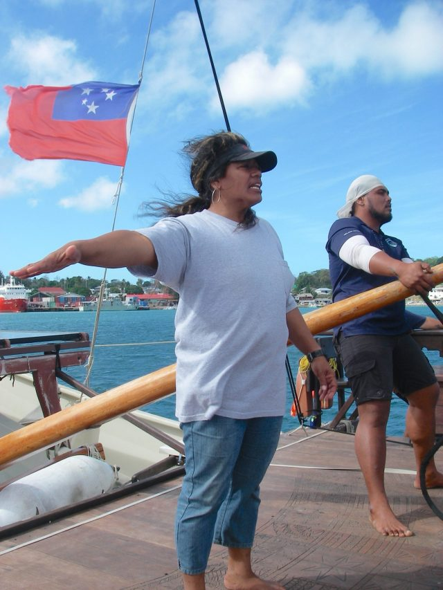 80. The first and only female Polynesian vaka skipper, Captain Aunofo Havea, spoke of traditional methods of celestial navigation, which are used even today on the fleet of Vakas