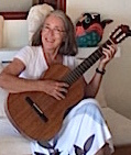 Anne with her guitar