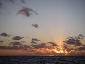 5. A typically gorgeous Tongan sunset blessed us as we sailed away from Vava'u into the night bound for Vanuatu