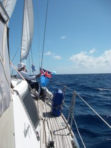 50. Flat Mr. Davis and Anne took down the Fiji courtesy flag in preparation for the Vanuatu courtesy flag