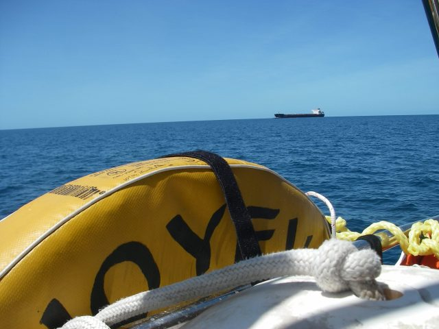 58-as-we-sailed-through-the-great-barrier-reef-several-huge-ships-were-also-utilizing-the-hydrographers-passage-not-counting-near-land-crossing-the-entire-south-pacific-we-only-saw-around-10-ship