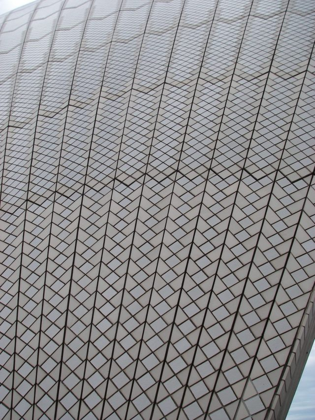 100.1. Every tile on the roof of the Sydney Opera House has a unique dimention. They have numbers on them so the builders could identify where they should be on the roof