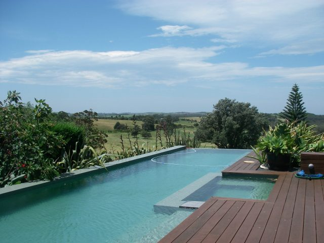 113.2. We visited a lovely Australian family for a traditional Thanksgiving feast. This is a photo of their swimming pool overlooking their gorgeous farmland in Berry, New South Wales,