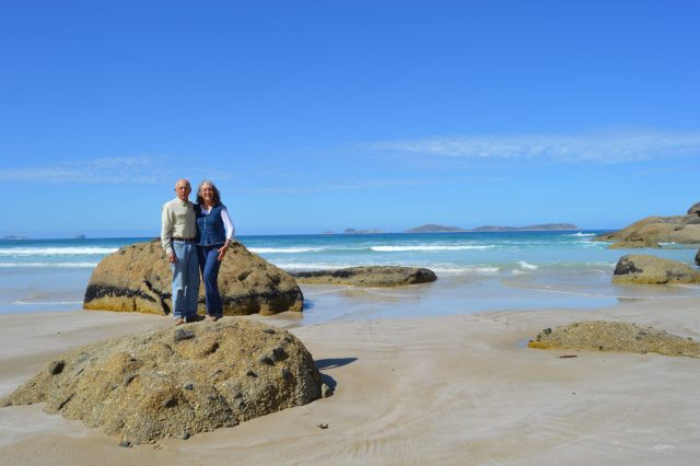 149. Jeff and Anne on a beautiful beach on the Victorian seaside facing the Bass Strait
