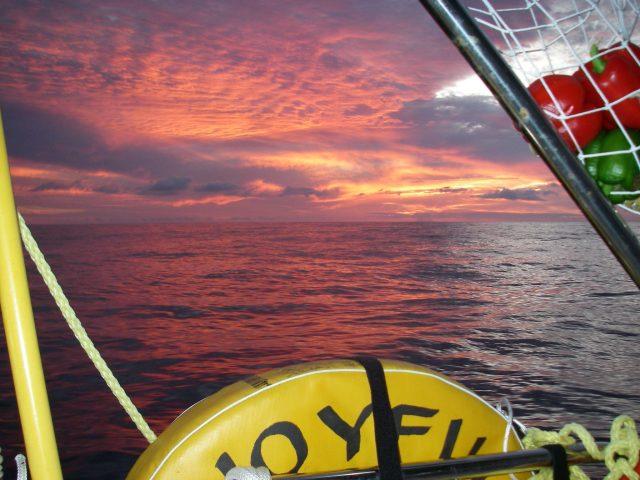 67. Joyful with a magnificent sunrise off the East coast of Australia
