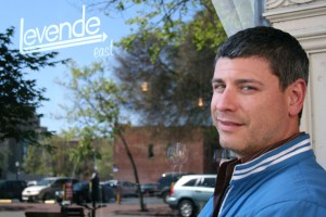 Ben Doren in front of the Oakland iteration of his original Mission District restaurant-lounge, Levende.