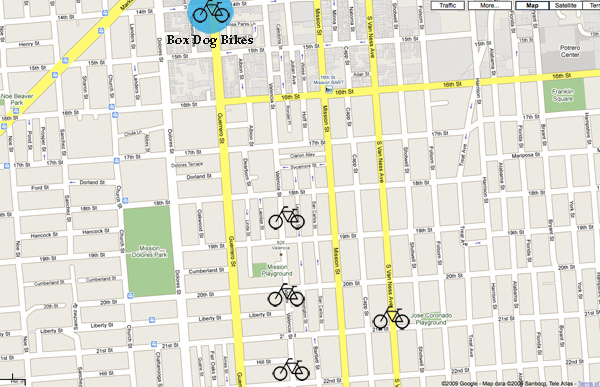 Bike shops in the Mission.