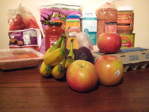 One week's worth of groceries