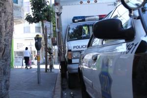 Police Command Van on 24th Street