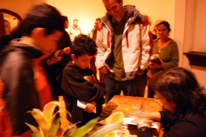 Sonia Nazario signs books for a moved crowd.