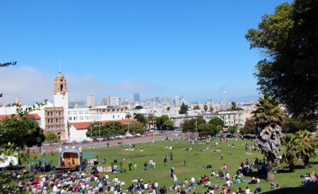 Dolores Park is a go-to location for many Mission residents and tourists alike.