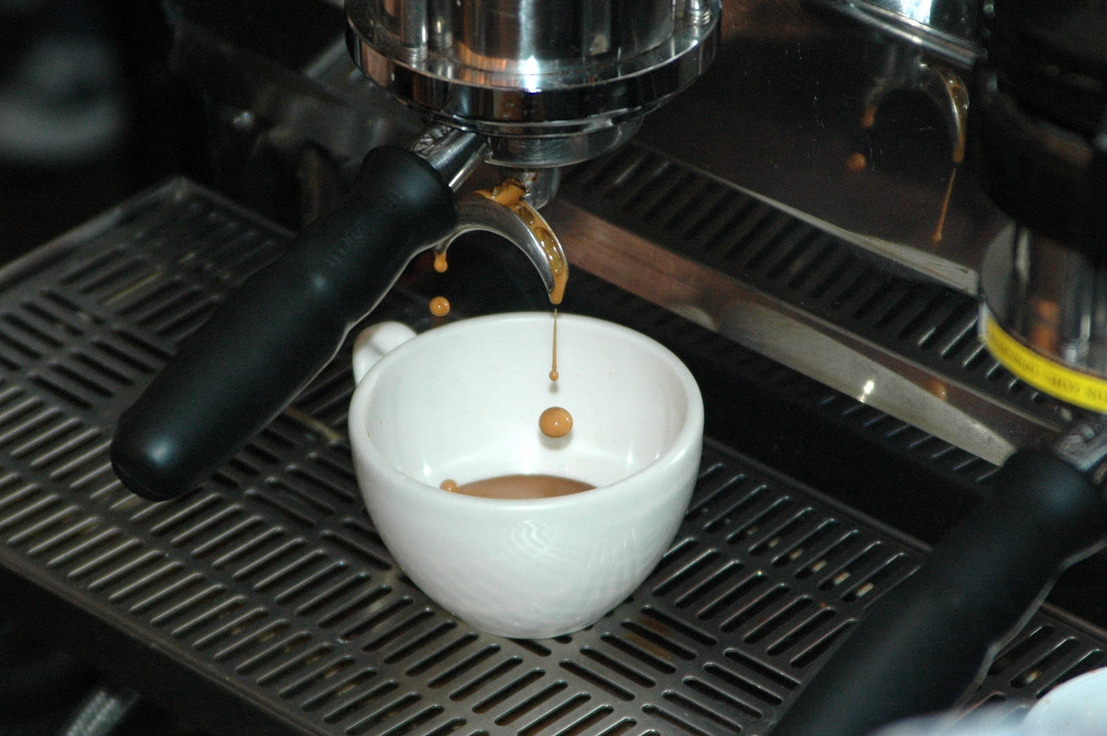 Image shows coffee dripping.