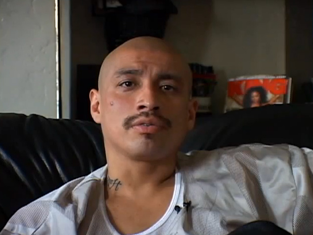 """A film still from the documentary """"Homeboy""""."""