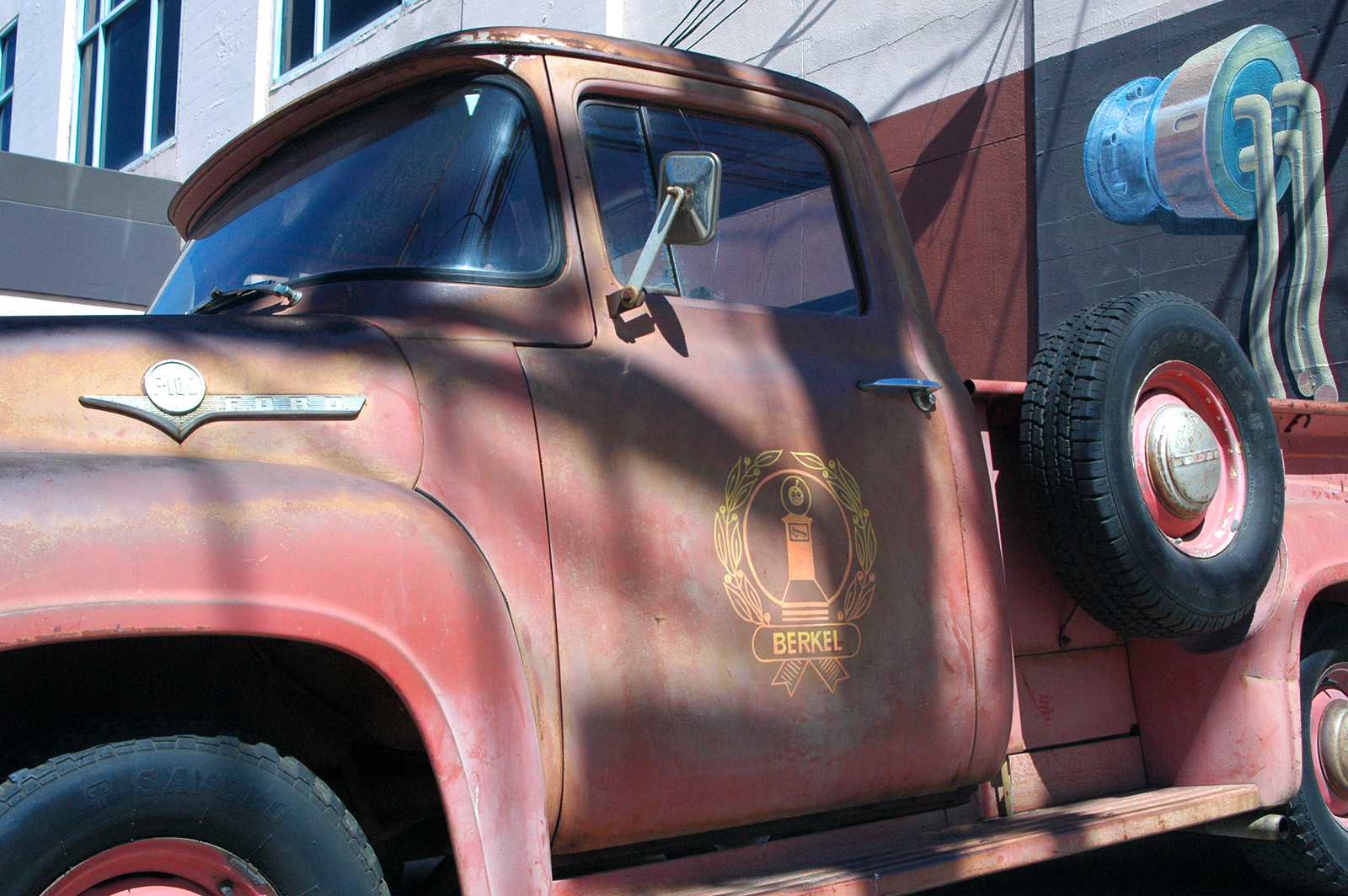 Image shows an old, classic pickup truck