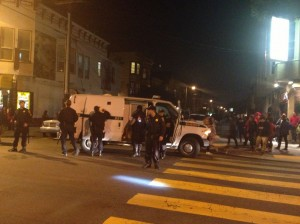 Aftermath of the game: arrests being made on Alabama Street.