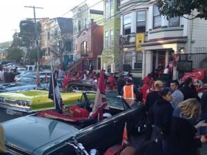 Block party on Harrison Street.