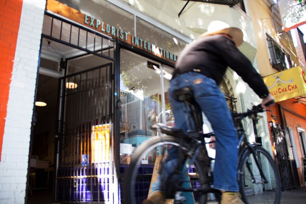 Riding by: The store is on 24th Street between South Van Ness and Shotwell.