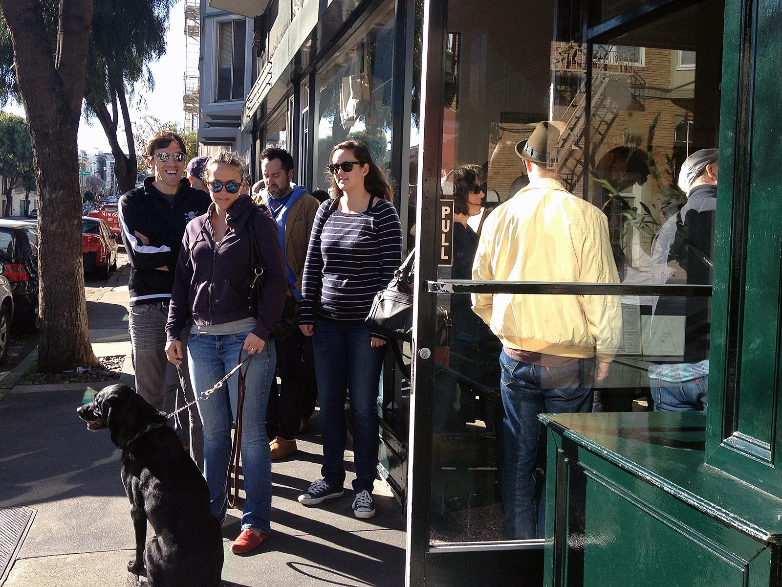 The line outside Tartine Bakery.