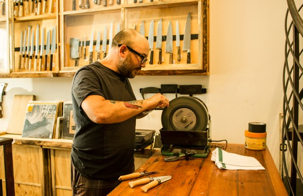 Bernal Cutlery is named after its original location in Bernal Heights. The shop relocated to 18th and Guerrero street in the Mission in May 2013.