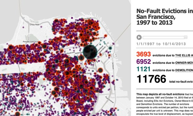 New Interactive Maps Show No-Fault Evictions and Ellis Act Evictions