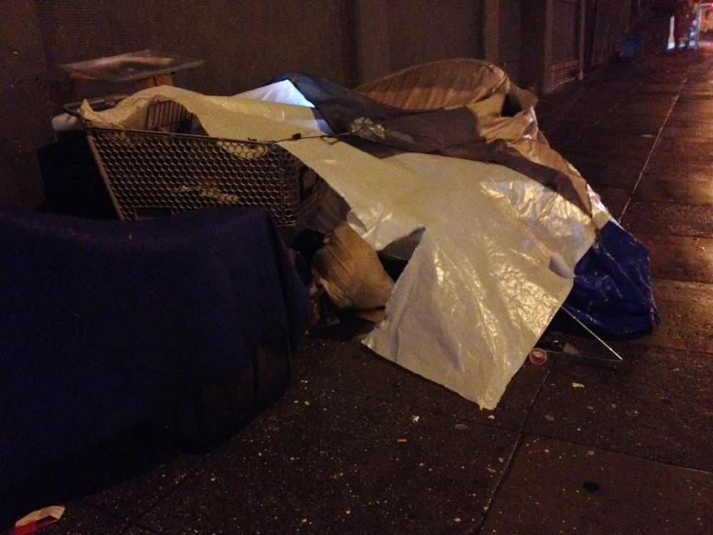 South of Mission Street. A small encampment. Taken 2/26