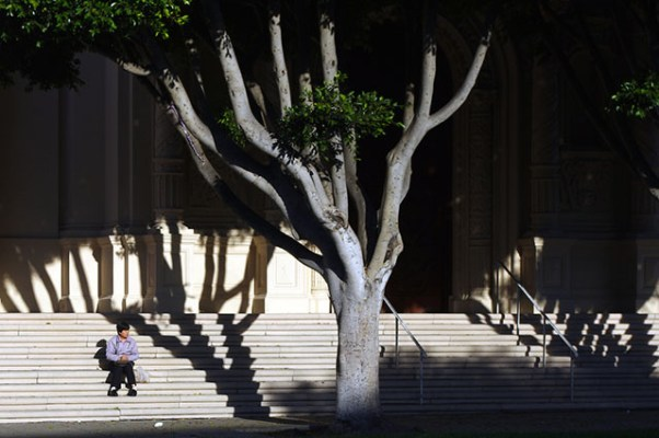 Break: Mission Dolores Basilica steps. Esther Reyes