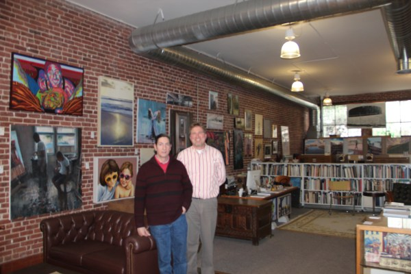 Steve Lopez and Eric Koehler in their gallery ArtZone 461. Photo by Joe Rivano Barros.