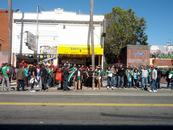 PHOTOS: Mexico World Cup Win at 24th BART Plaza