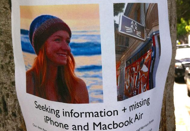 Poster of Ann Zeis on 24th Street.  Reader photo.