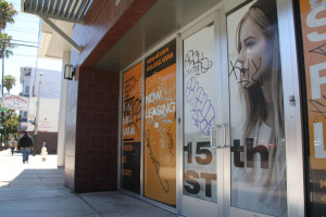 The unoccupied storefront at Vara. Photo by Daniel Hirsch.