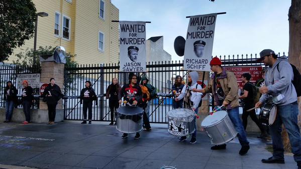 Protesters of Police Violence Blockade Mission Station