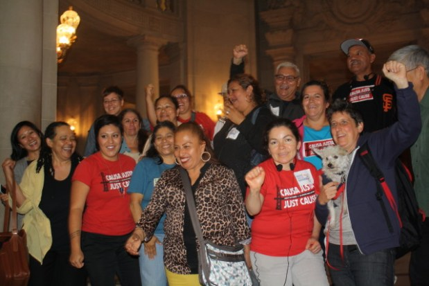 "Tenants rights advocates elated after board approves ""Eviction Protection 2.0"". Photo by Julian Mark"