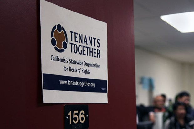 Tenants Together's new office is located at 474 Valencia St. The only thing missing are the windows, said Acting Director Aimee Inglis. Photo by Laura Waxmann