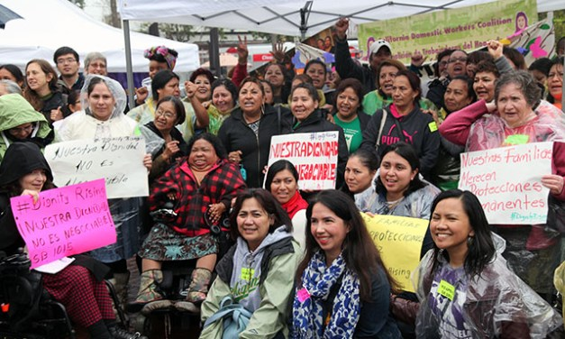 Domestic Workers Rally for Overtime Pay Protections