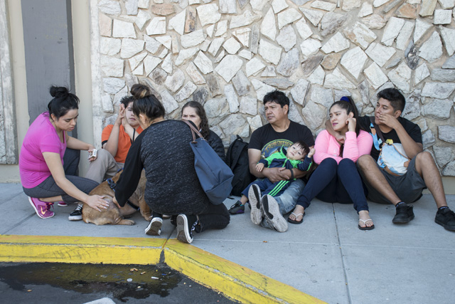 Displaced residents of the Mission and 29th street fire. Photo by Lola M. Chavez