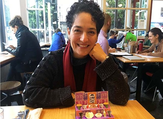 Martha Rodriguez Salazar is the curator and music advisor of the Dia de los Muertos festivities at the SF Symphony. Photo by Laura Waxmann