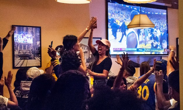 NBA finals from the Mission: Dubs pack the bars, take the trophy