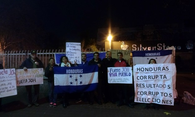 Local Hondurans protest recent election results